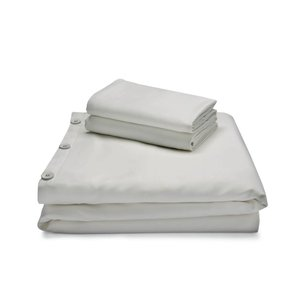 MALOUF WOVEN Bamboo Duvet Cover Set - Queen Ash