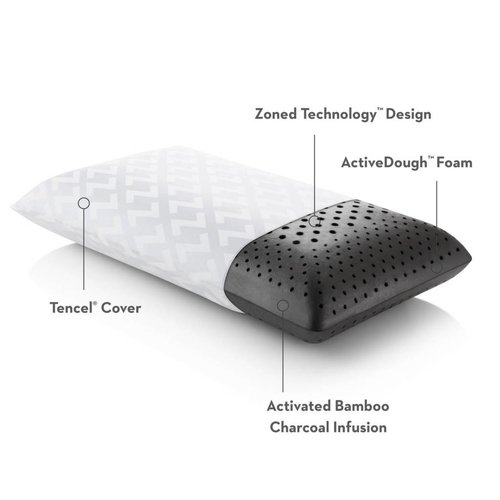 MALOUF Zoned ActiveDough + Bamboo Charcoal Pillow - King