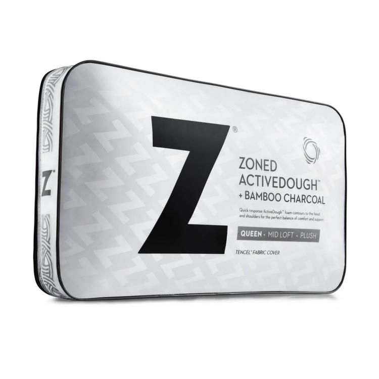 Zoned Activedough Bamboo Charcoal Pillow Queen