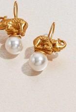 Elephant Pearl Earring-EW550GPL00