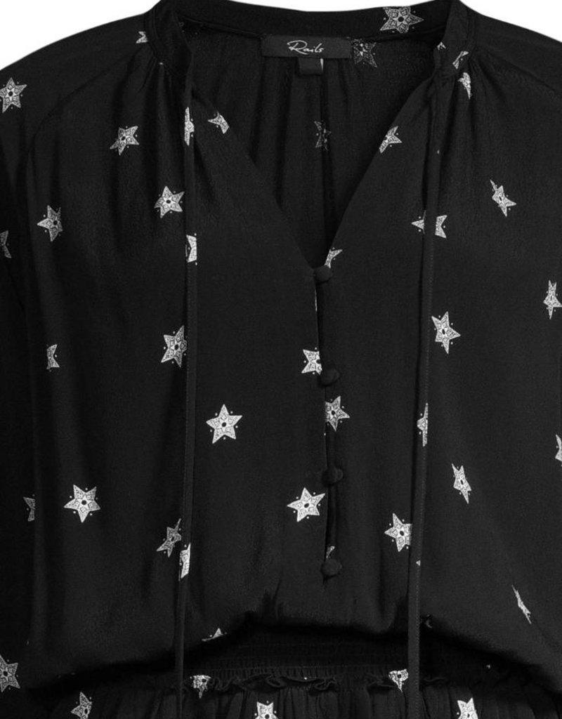 Jasmine Black Star Dress