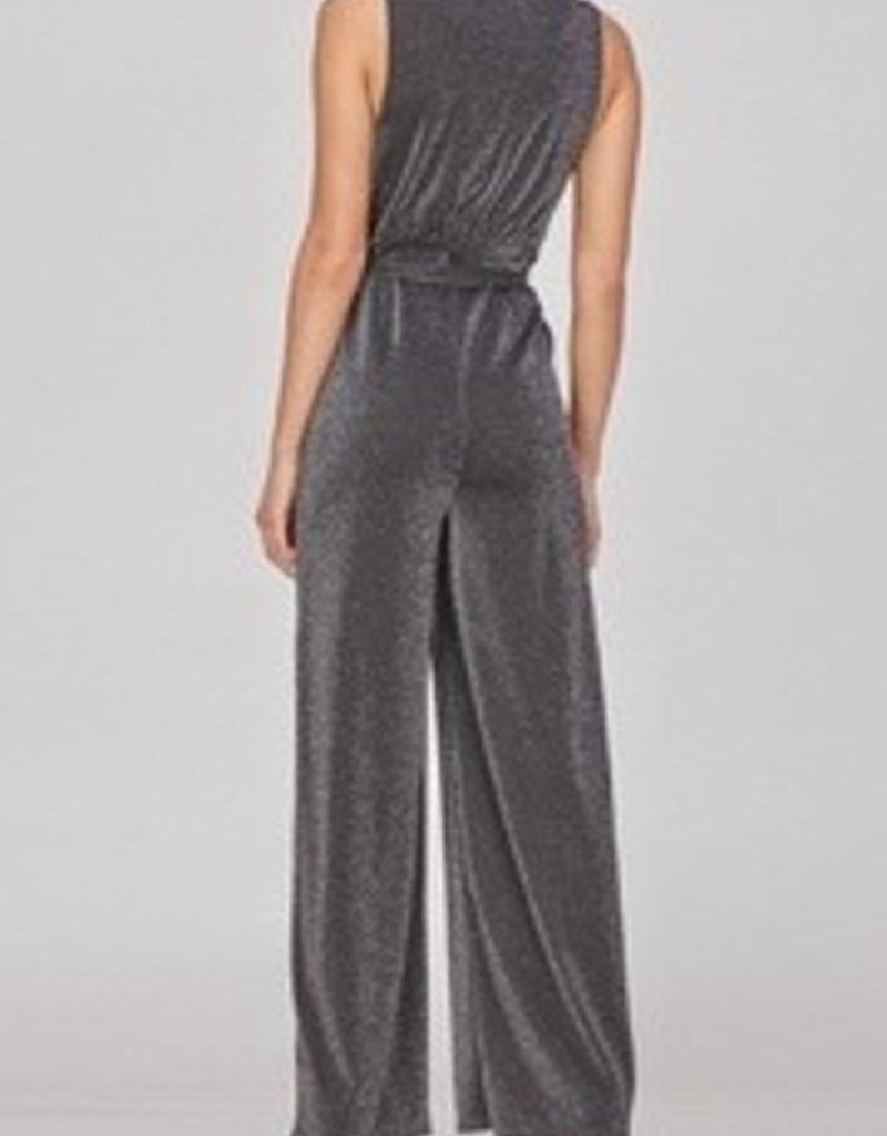 Lurex Belted Jumpsuit