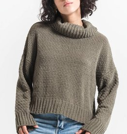 Lucia Chenille Turtleneck