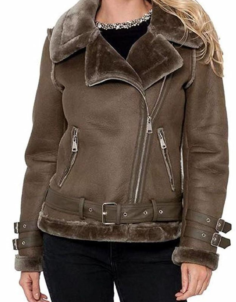 Rita Faux Shearling Jacket