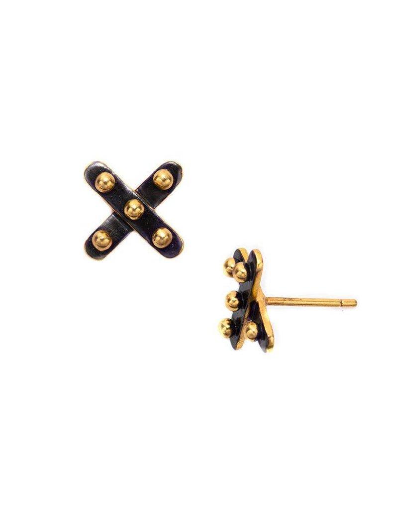 Soho X Stud Oxidized-ER336OG00