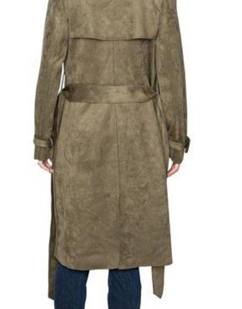 Adrianna Faux Suede Trenchcoat