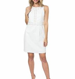 Lori Studded Faux Leather Dress