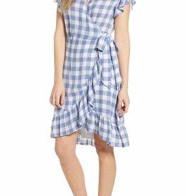 Brigitte Checkered Wrap Dress