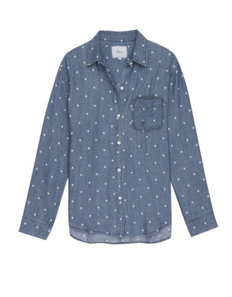 Ingrid-Polka Dot Button Down
