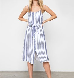 Clement-Slvless button front dress