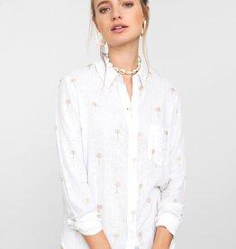 Charli button down shirt w/gold palm