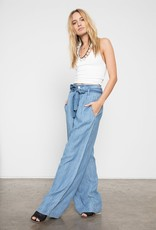Jess-Chambray Pant wide leg w/belt