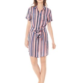 Keaton-Linen Tie Front Dress