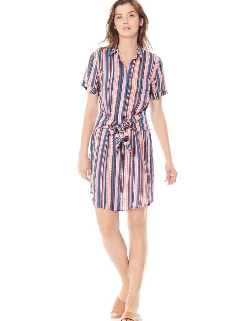 Keaton-Linen Tie Front Dress