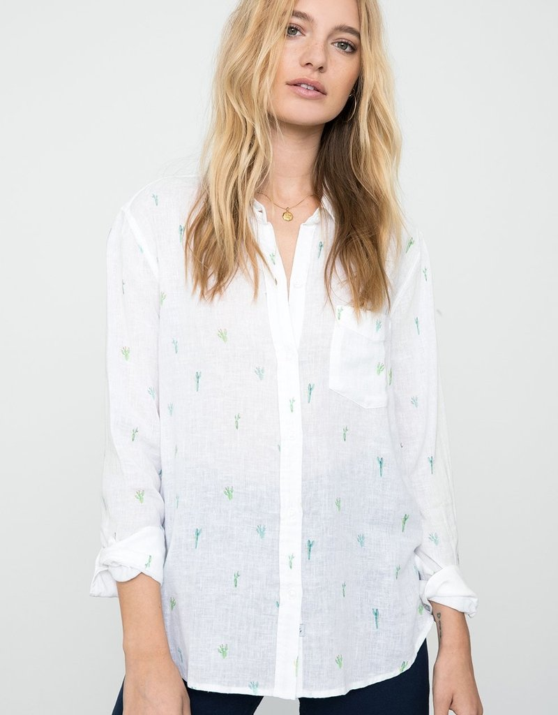 Charli Button Down with Catus Print