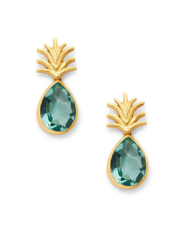Pineapple Earring Aquamarine