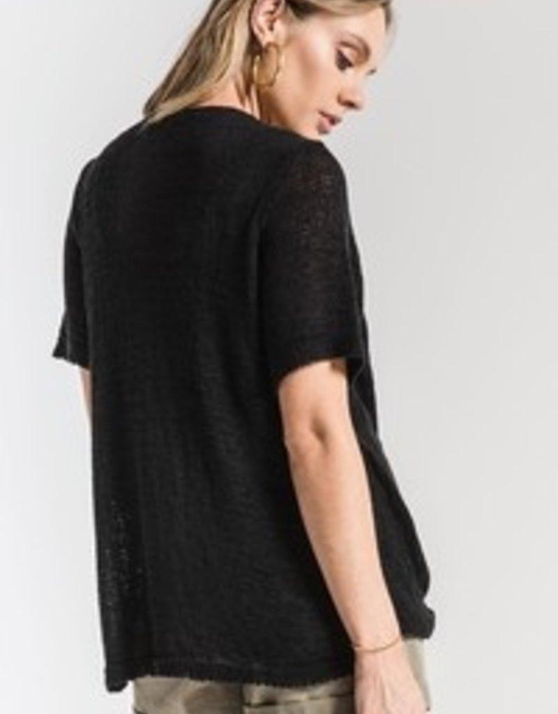 Britany-Front Twist Semi Sheer Sweater