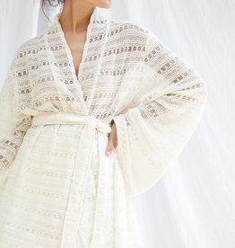 Callahan Jalah -  Crochet Belted Cardigan