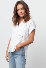 Whitney-Rolled Short Sleeve Button Down