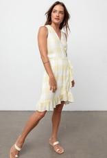 Madison Checkered Wrap Dress