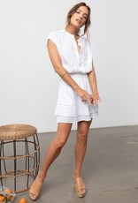 Angelina Linen Dress with Lace Detail