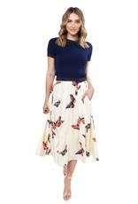 Butterfly Midi-Tulip Skirt
