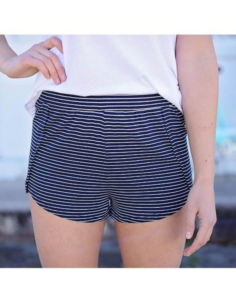 Micro Stripe Tulip Shorts