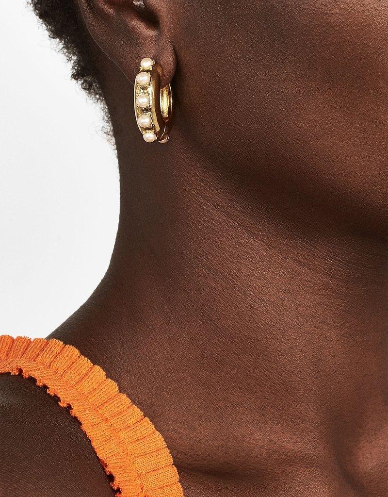 Claire Huggie Hoop Earrings