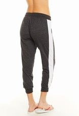 Blocked Jersey Cropped Track Jogger