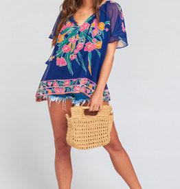 Show me your Mumu Cait Bouquet Tassel Tunic