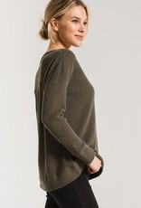The Waffle Thermal Split Neck Top