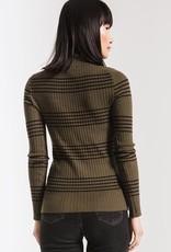 Linden Mock Striped Sweater