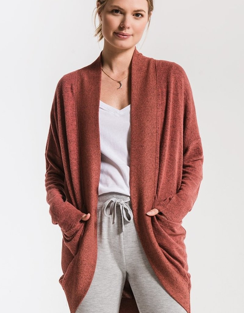 Marled Knit Cocoon Sweater