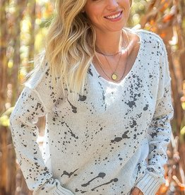 Wooden Ships Splatter V Lightweight Sweater