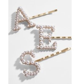 Baroque Initial Pearl Hair Pins