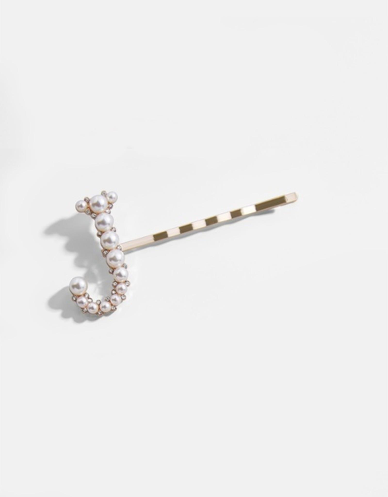 Baroque Initial Pearl Hair Pins
