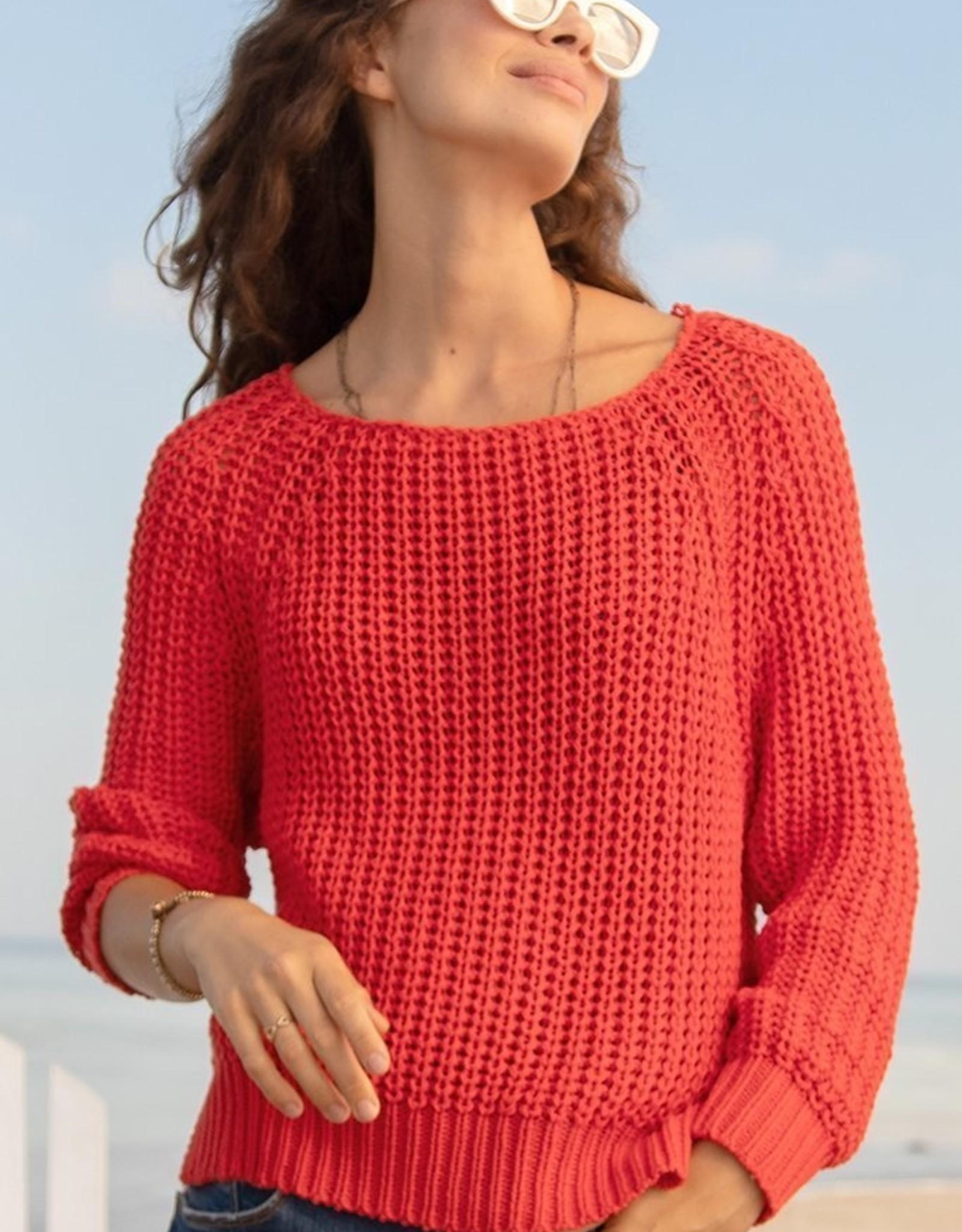 Wooden Ships Mackenzie Raglan Cotton Sweater