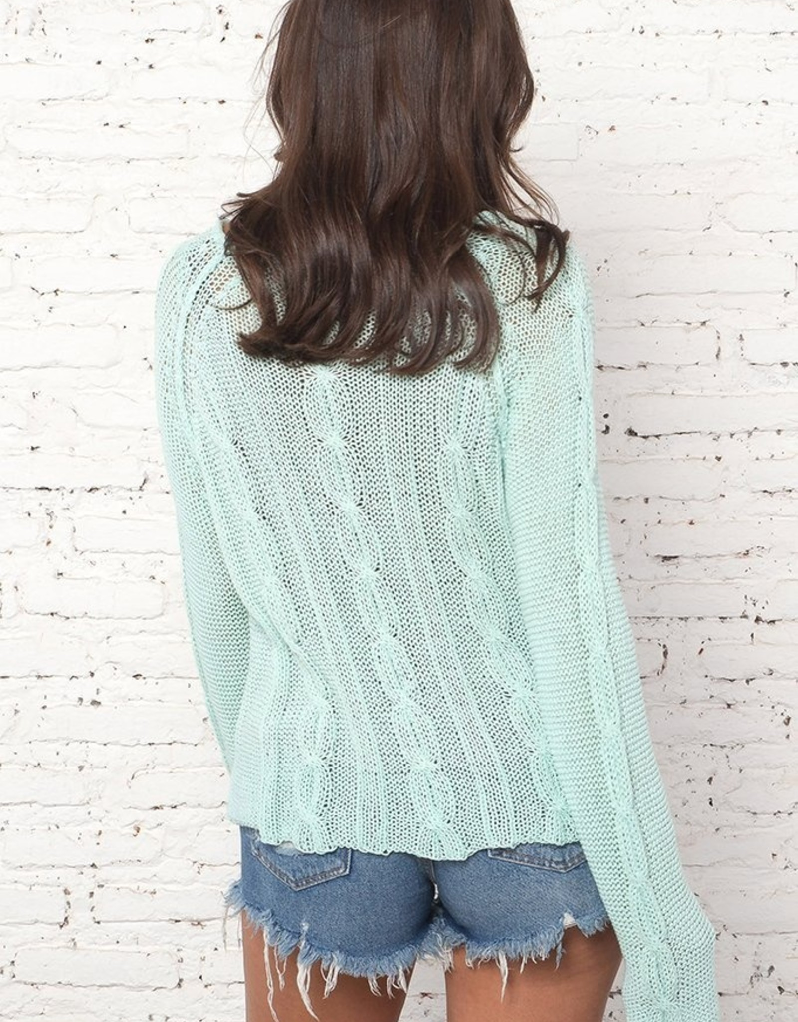 Wooden Ships Jax Cotton Cropped Sweater