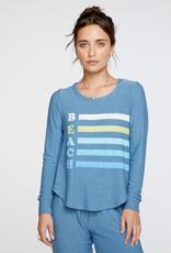 Cozy Knit Long Sleeve Pullover Beach