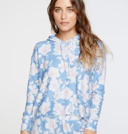 Cozy Knit Long Sleeve Floral Hoodie