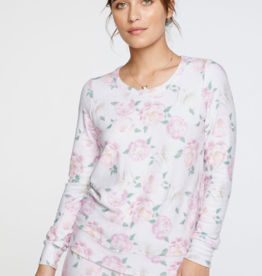 Cozy Knit Long Sleeve Floral Pullover