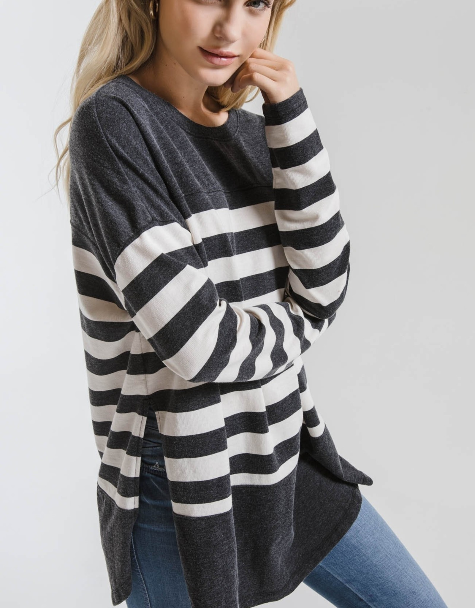 Modern Stripe Oversized Crew**additional colors**