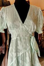 Hutch Pearl Ruffle Wrap Dress