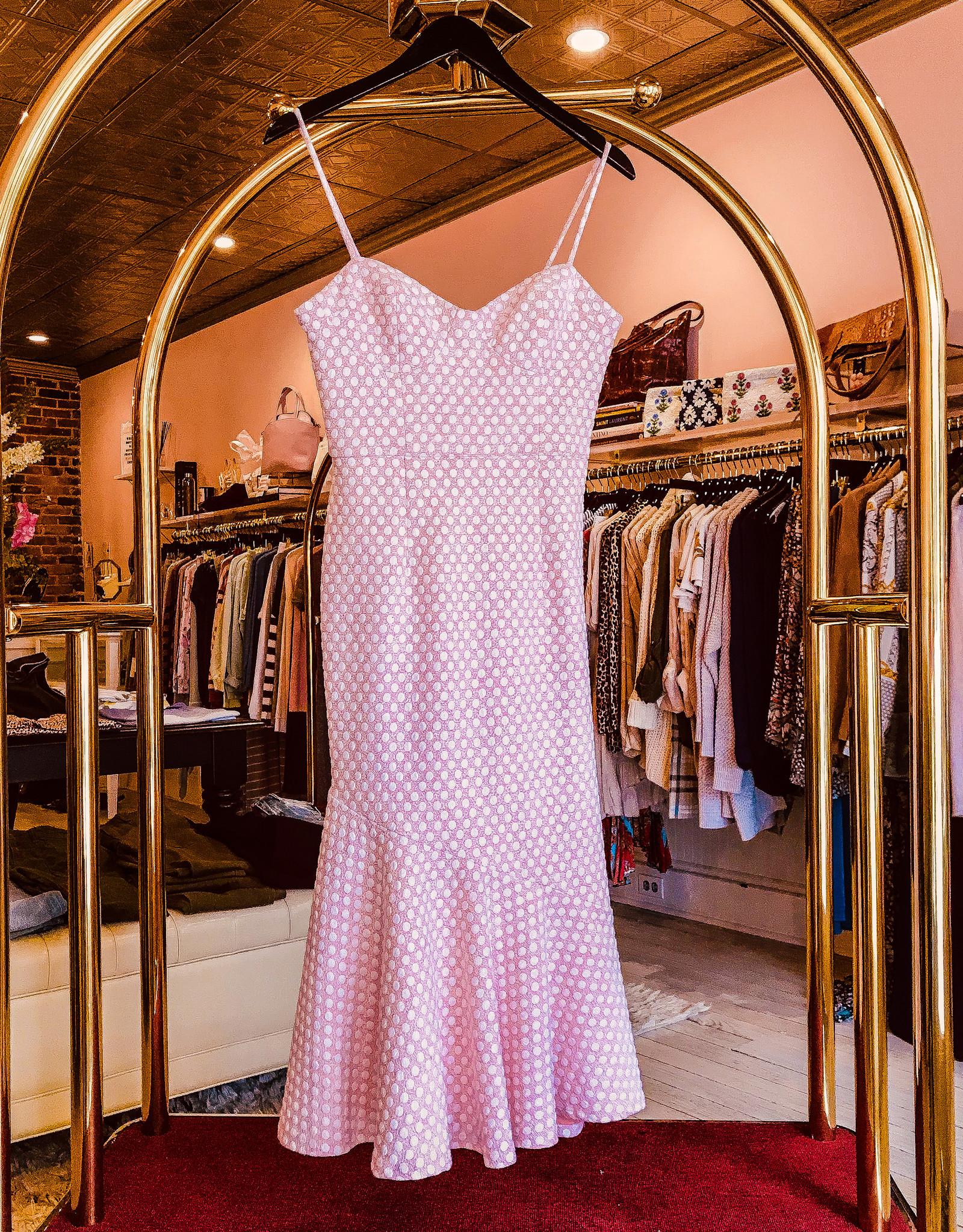 Hutch Opal-Ruffle Bustier Midi Dress