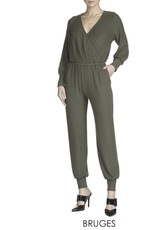 Bruges-Ribbed with wrap top Jumpsuit