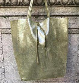 Jijou Capri Glitter Leather Tote