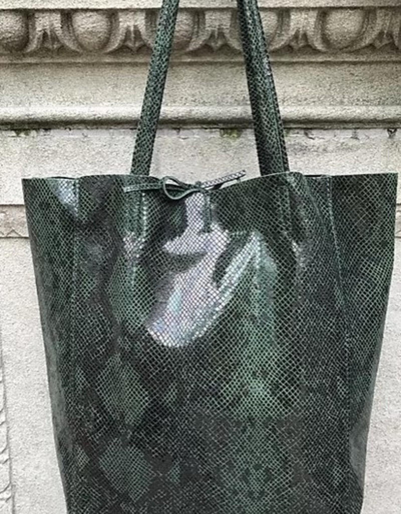 Jijou Capri Snake Print Leather Tote