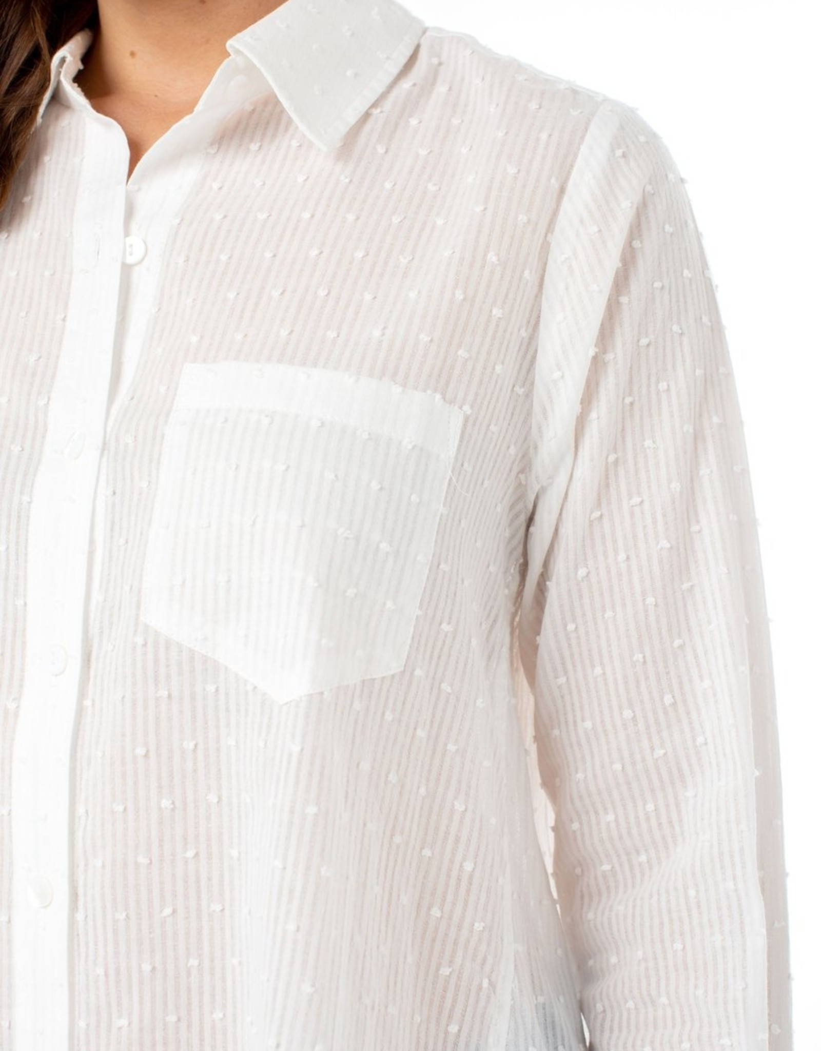 liverpool Oversized Swiss Dot Button Down