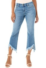 liverpool Frayed Hem Crop Flare Jean