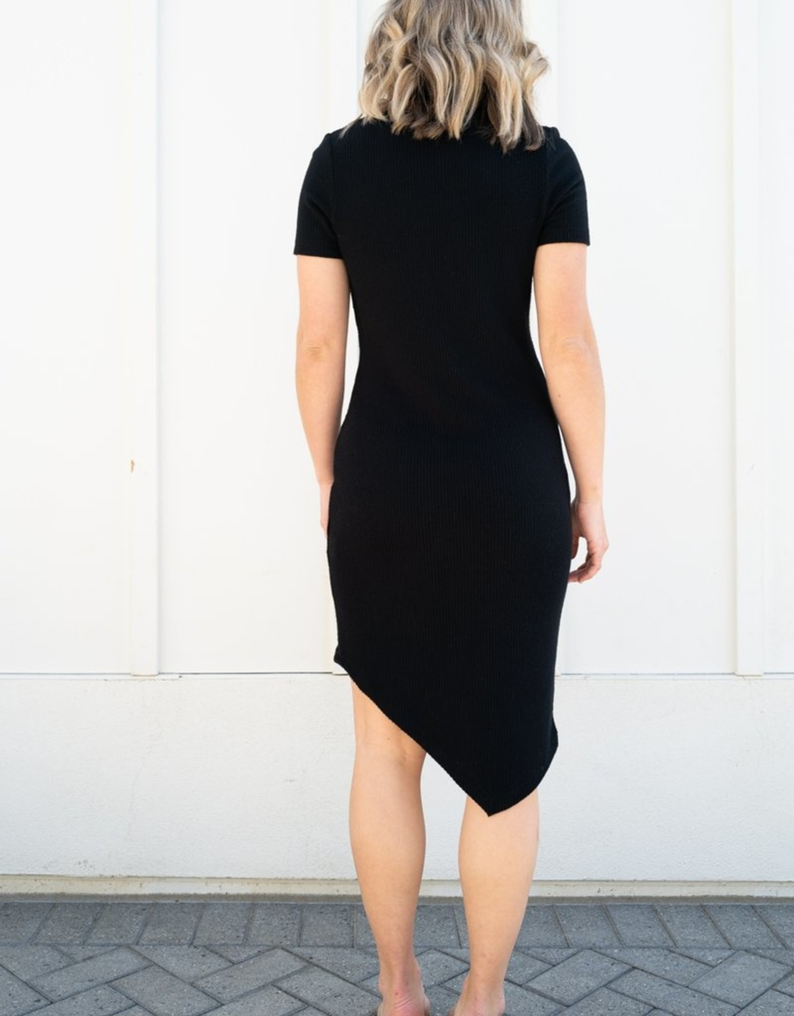 Crew Asymmetrical Hem Dress